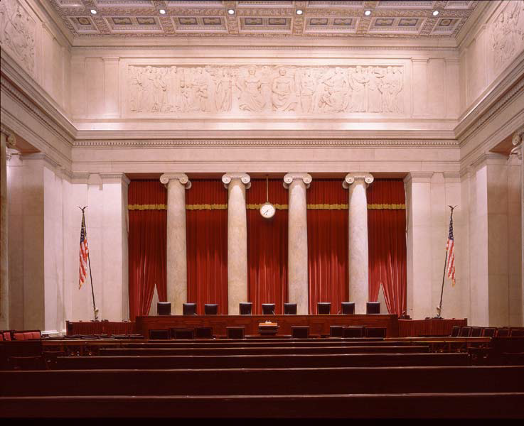 East Wall Frieze above The Supreme Court Bench